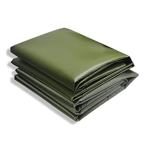 WEIWEI 610 g de grosor verde lona impermeable cubierta para el suelo para acampar, pesca, jardinería y mascotas, 2 x 1,5 m x 1,5 m (color: A, tamaño: 2 x 1,5 m)