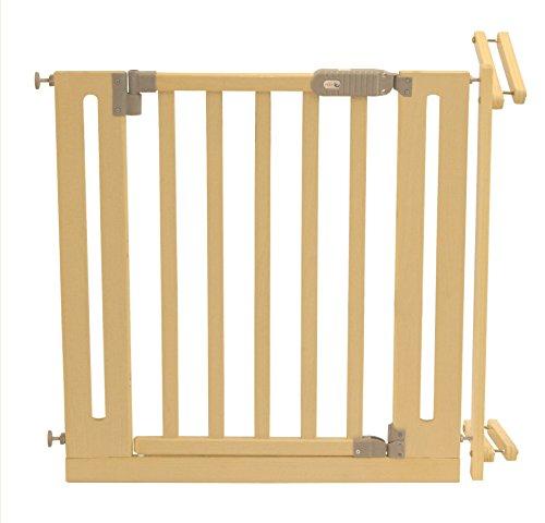roba Türschutzgitter, Schutzgitter aus Holz, variable Breite 81-90cm, Tür- und Treppengitter für...