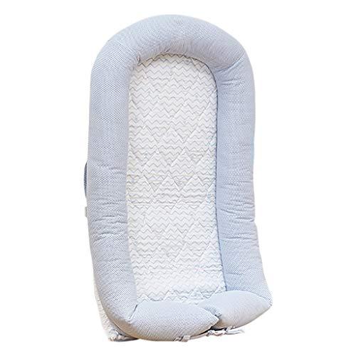 HUYP Baby Sleep Pod Game Pad Enfants Voyage Lit en Plein Air Lit De Bébé Multi-Fonction Nouveau-Né Matelas Bionique 0-2 Ans (Couleur : Bleu, Taille : S)