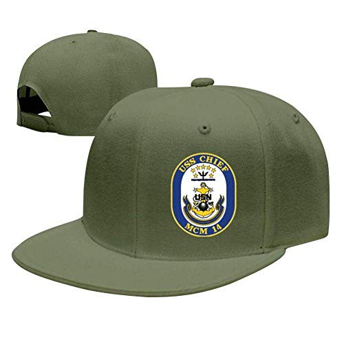 SuyuttiER USS Chief MCM-14 Baseball Cap Adjustable Trucker Hat Dad Hat Green