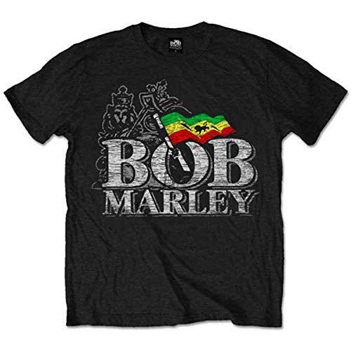 Bravado - Camiseta de Bob Marley para hombre, tallaX-Large, color negro