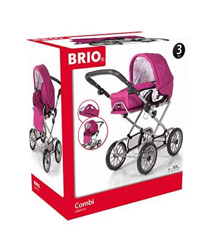 BRIO 10290 - Puppenwagen Combi, Rose