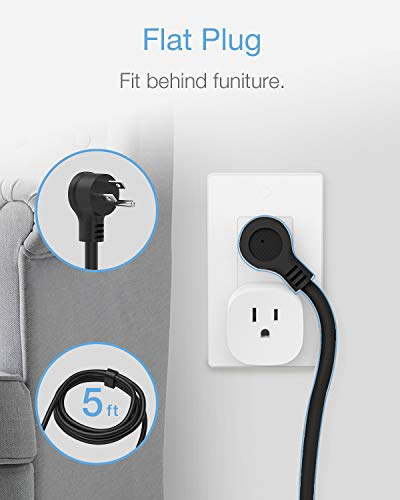 TESSAN Power Strip with 3 USBs and 3 Outlets