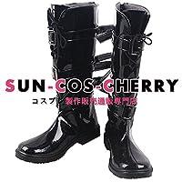 【サイズ選択可】コスプレ靴 ブーツ Z4-1036 アズールレーン Azur Lane 闇然礼装 綾波 IJN Ayanami 女性23.5CM