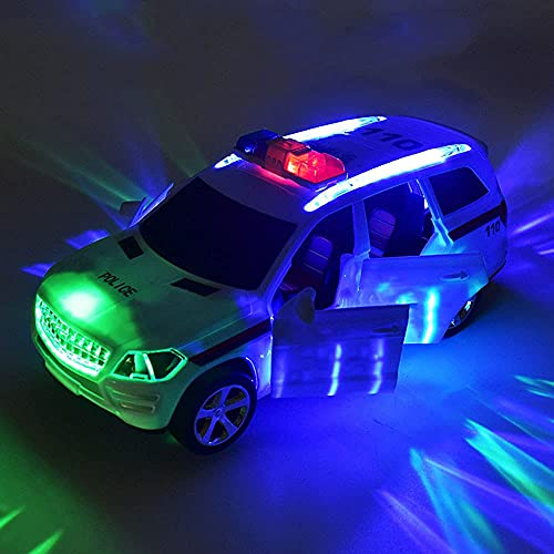 WENTING Coche de policía de Juguete para niños, Puerta Abierta automática, Modelo de camión para niños, niñas, vehículo a Pilas con Hermosas Luces LED y música Fresca Regalo de cumpleaños de