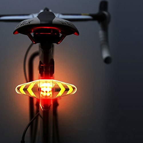 BIKEX Fahrrad Licht Rücklicht LED, wasserdichte Lenk Warn Lampe Mountain Bike Rücklicht Mit Funkfern Bedienung, USB Lade Sicherheits Zubehör Fahrrad Ausrüstung