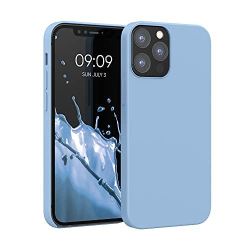 kwmobile Custodia Compatibile con Apple iPhone 12/12 PRO - Cover in Silicone TPU - Back Case per Smartphone - Protezione Gommata Grigio Azzuro