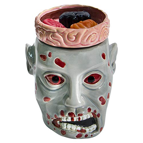Halloween Forevermore Zombie Ceramic Wax Warmer | Flameless & Easy to Clean | Handcrafted Horror-Style Character Aromatherapy Candle Warmers