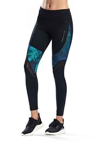 Silik Damen-Leggings für Sport, Workout, Training, voll Länge, Yogahosen, für Fitness-Studio und zum Joggen Gr. 36, Green 02