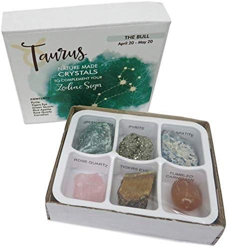 Rock Paradise Horoscope Stone Box Set - Virgo Zodiac Sign – Healing Crystals Birthstone Charms – Astrology Crystal Healing Horoscope Gift
