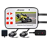 "MEKNIC Motorcycle Camera Dual Lens 1080P Motorcycle Dash Cam, Front and Rear with 2.7"" LCD Screen and GPS, Waterproof Motorcycle Camera System,Motorcycle Dash Camera with Good Night Vision"