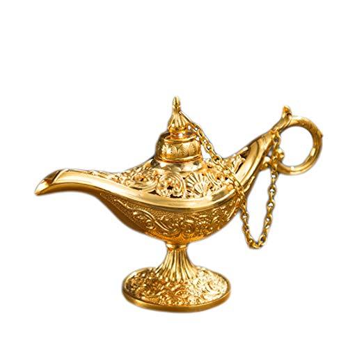Verve Jelly Genie Licht Lampe, Mini Aladdin Licht Magie Genie Licht Metall seltene Retro-Legende Farbe Lampe Wunsch Lampe Topf Sammlerstück