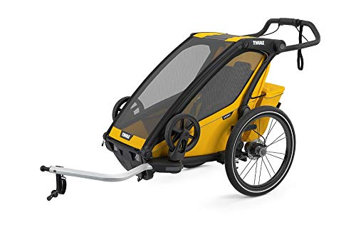Thule, Chariot Sport, Trailer/Stroller, Spectra Yellow, Uni, Unisex-Adult