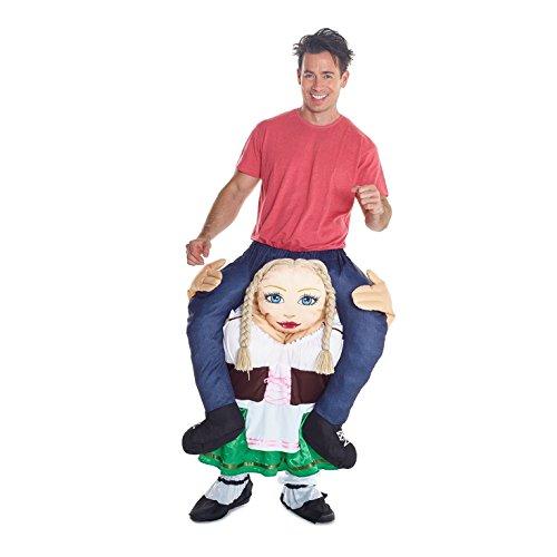 Morph Costume divertente con le gambe autogonfiabili, Unisex, Signora della birra tedesca, Taglia unica