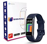 Seven Petals VeryFit Fitness Tracker Heart Rate SpO2 Blood Oxygen Saturation Monitor Alexa Built-in Smart Watch for Men & Women Fit Watch Compatible with iPhone Samsung & Android (GT Band) (Blue)