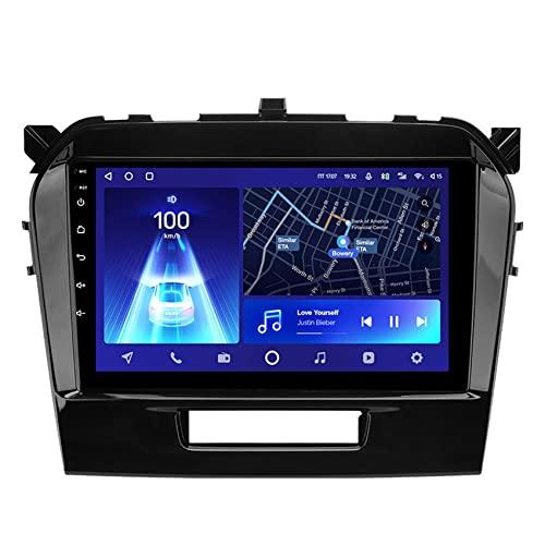 Amimilili Android 10 Autoradio Radio de Coche, Navegador GPS para Suzuki Vitara 4 2014-2018 con 4G DSP Control del Volante Carplay Enlace Espejo Cámara Trasera,8core 4g+WiFi: 4+64g