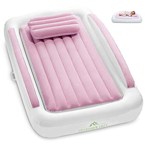 inflatable travel bed for kids Toddler camping or floor bed Portable Blow Up Mattress 3 colors