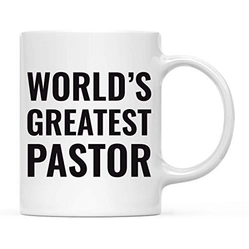 Taza de café regalo para hombres o mujeres, taza del mundo más grande pastor, taza para beber cumpleaños, Navidad, promoción de graduación, regalo para él y ella, 15 onzas