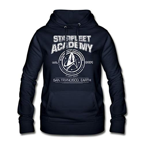 Star Trek Discovery Starfleet Collège Sweat À Capuche Femme, S, Marine