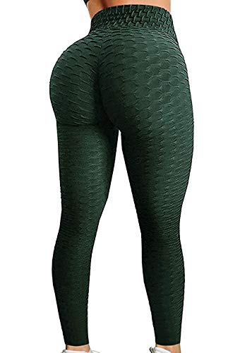 SEASUM Women's High Waist Yoga Pants Tummy Control Slimming Booty Leggings Workout Running Butt Lift Tights L