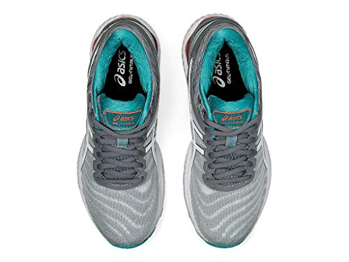 ASICS Women's Gel-Nimbus 22 Running Shoes, 5M, Sheet Rock/White