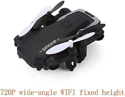Tuition Fee Mini Drone Pliant Photographie Aérienne Avion Configurer Un Appareil Photo HD Et Le Regarder en Synchronisation avec Votre Téléphone comme Un Avion d'apprentissage D'entrée,noir720pwifi