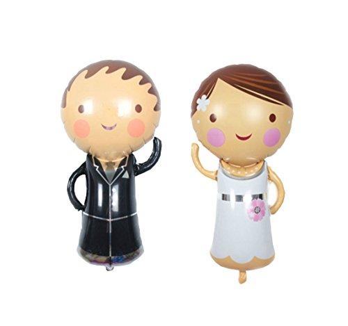 RepairMedia-Shop RM★ Folienballon P067 XXL Folien Aluminium Luft Ballon Hochzeit Wedding Braut Paar Party Mann Frau 88cm Liebe Love ★RM★