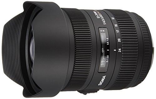 Sigma 204954 - Objetivo para Canon (Distancia Focal 12-24 mm, Apertura f/5.6, diámetro: 125 mm) Negro