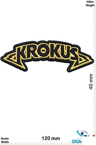 Krokus Hard Rock Band Patch Badge Applique Geborduurd IJzer op