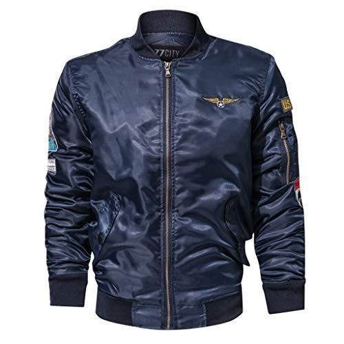 manadlian Blouson Homme Cuir Jacket Casual Mode Veste de Moto Motard Manteau Homme Militaire Blouson Multi-Poche Mens Bomber Sweats Zippe Homme Grande Taille Hiver Trench Coat Outwear Parka