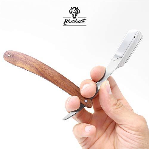 Eberbart Rasiermesser, Wechselklingenmesser mit Griff aus Rosenholz  Abbildung 3