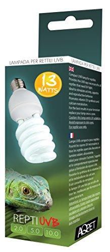 LAMPADA UVB UVA 5.0 5% REPTI UVB GLO COMPACT LAMPADA PER RETTILI TERRARIO 13WATT