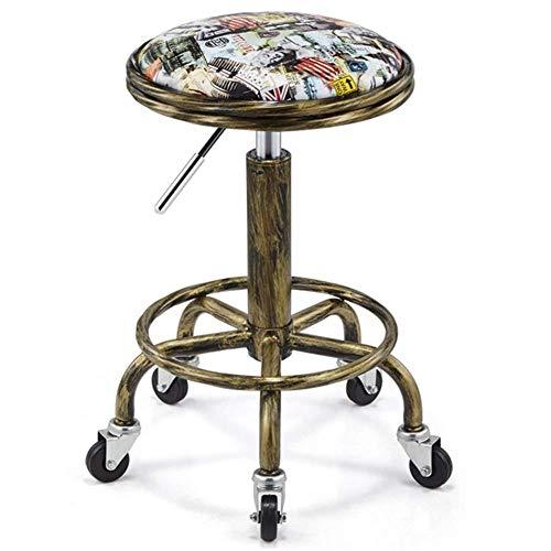 OSALADI vrijetijdsstoel kruk fashion simpele bar counter beauty kappers kruk optillen bar KTV kleine kruk werkstoel (kleur: nationale vlagmaat: 50-64cm)