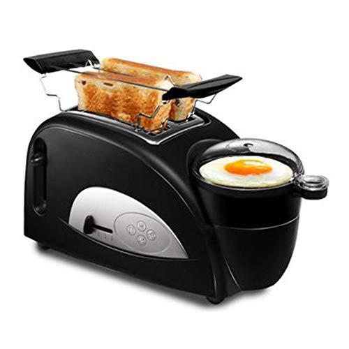 Elektrische Broodbakmachine Broodbakmachine Multifunctionele Ontbijt Maken broodrooster Steam Egg Sandwich Maker Elektrische Oven,Black
