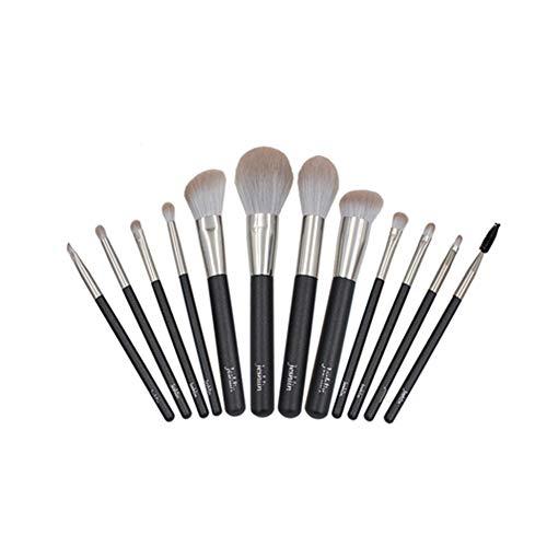 x4L Ensemble de pinceaux de Maquillage Multifonctionnel, 12 pinceaux de Maquillage, matériau de Rayonne Souple Compact de Haute qualité, poignée Solide Durable et Confortable