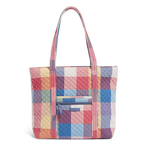 Vera Bradley Cotton Vera Tote Bag, Tropics Plaid