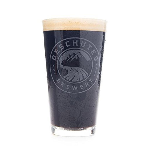 Deschutes Brewery White Satin Logo Pint Glass