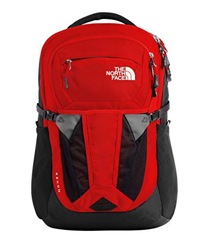 The North Face Women's Recon Backpack, Fiery Red/Asphalt Grey, One Size