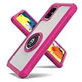 Fcclss Cell Phone Case for Samsung Galaxy A51 5G (Not for 4G & UW), Samsung A51 5G Case with 360 Degree Rotate Magnetic Ring Kickstand, Samsung A51 5G Case Shockproof for Men Women Girls, Hot Pink