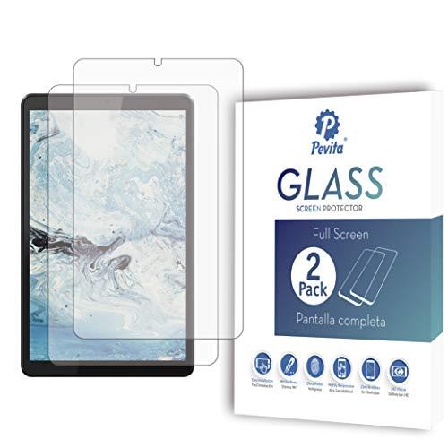 Pevita Protector de Pantalla Compatible con Lenovo Tab M8, 8'' [2 Packs] Cristal Templado para Lenovo Tab M8, 8''. Dureza 9H, Sin Burbujas, Fácil Instalación.