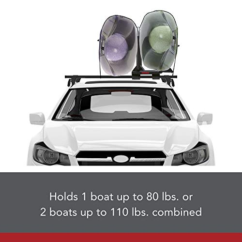 Yakima - JayLow, J-Style Fold Down Rooftop Kayak Carrier, 2 Boat Capacity
