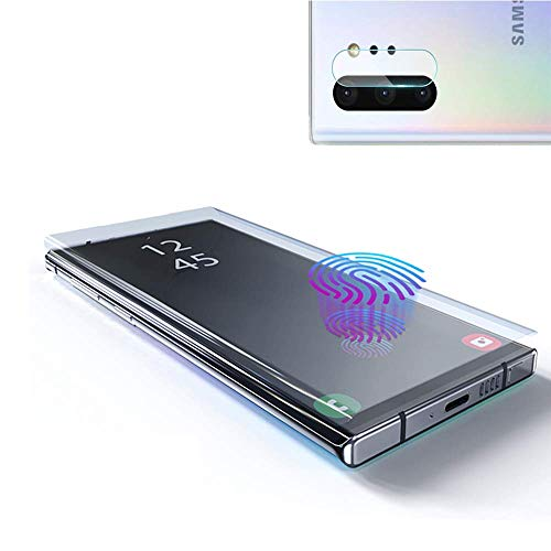 Price comparison product image Galaxy Note 10 Screen Protector Tempered Glass,  Include a Camera Lens Protector with [Case Friendly] [Full Screen] [HD Clear] [Touch Responsive] for Note10 [6.3 inches]