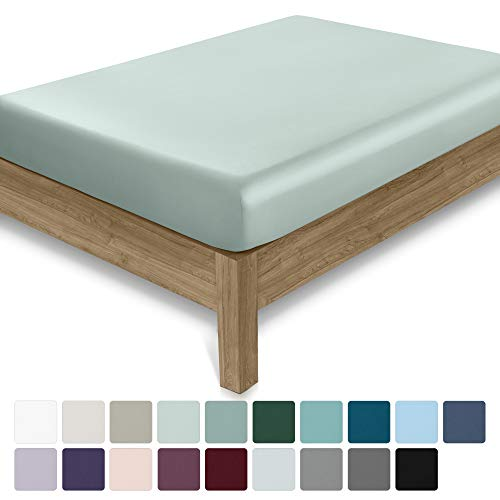 California Design Den 400 Thread Count 100% Cotton 1 Fitted Sheet Only, Mod Spa Full Fitted Sheet, Long - Staple Combed Pure Natural Cotton Sheet, Soft & Silky Sateen Weave