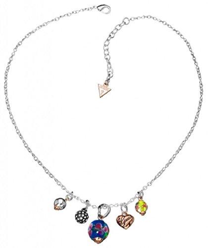 Guess Damen-Halsband Edelstahl rhodiniert Kristall Zirkonia weiß UBN11120