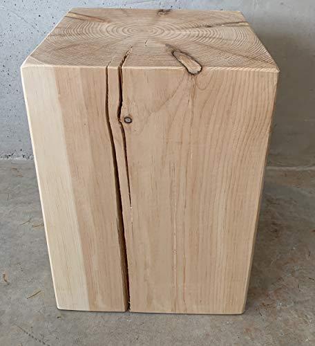 Jan Kurtz blok massief grenen houten kruk tafeltje unicaat flintstone design