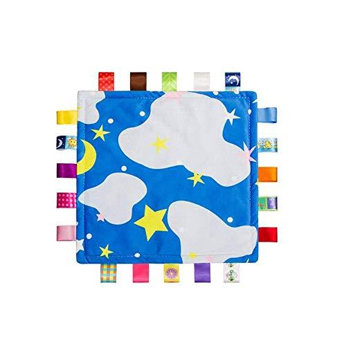 G-Tree Blue Tag bébé, couverture de bébé Taggy - bleu avec Tag Cloud, Taggy Couverture meilleur cadeau pour nouveau-né garçon et filles
