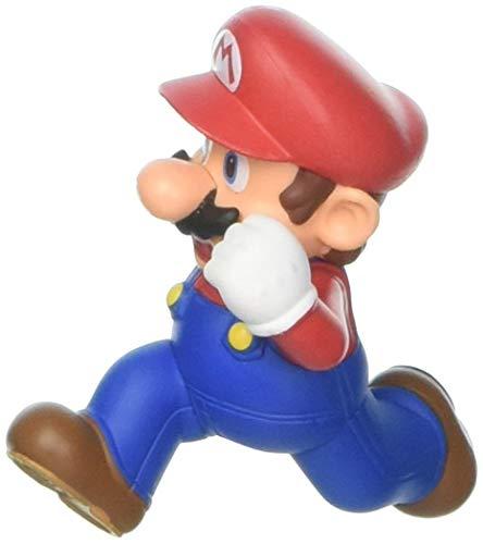 Jakks Pacific Year 2016 World of Nintendo Super Mario Series 2-1/2 Inch Tall Figure - Running MARIO with Display Stand
