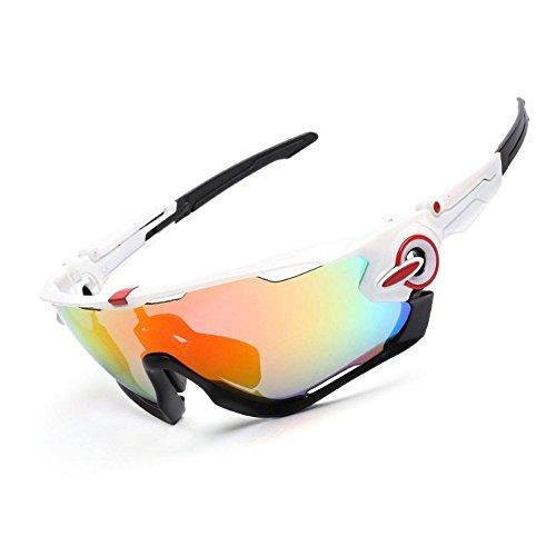 YANKAN Professionelle Männer und Frauen, die Sonnenbrillen Fahren Leichte Fahrrad-Wrap-Brille UV400 Outdoor-Brille Blendfrei, Bruchsicher