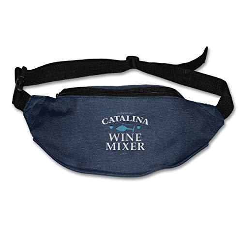 Jiaojiaozhe - Borsa da corsa per miscelatore di vino Catalina con cinghia regolabile, Blu (Marina Militare), Taglia unica