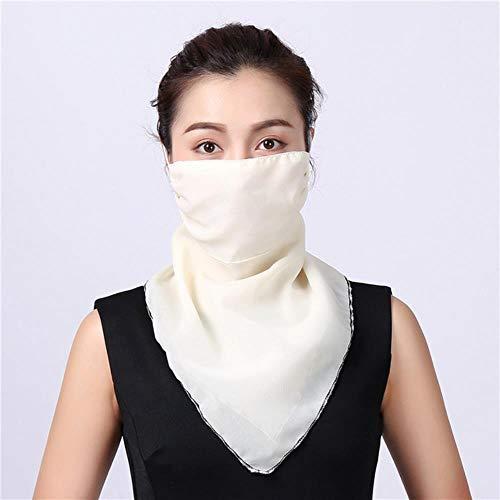 SXCYU Verano Mujer Protector Solar Cuello ortopédico sección Delgada Protector Solar Transpirable sombrilla Bufanda de Gasa Anti-UV, 51
